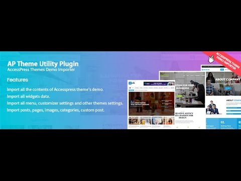 How to install free demo content for WordPress Site - AP Theme Utility Plugin
