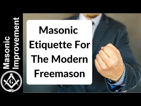 Masonic Etiquette For The Modern Freemason