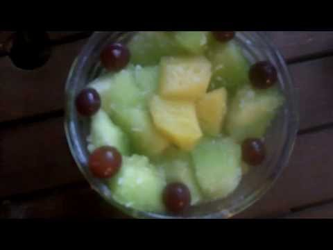 Organic Tropical Breeze Fruit Salad  Healthy Delicious Honeydew Melon Pineapple Coconut