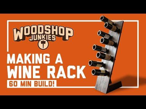 Super Easy 60 Minute Free Standing Wine Rack Build (DIY)