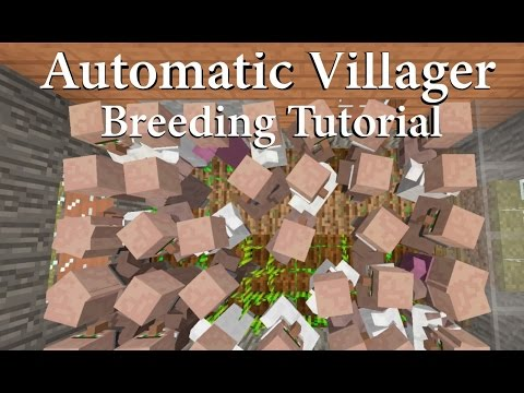 Simple Automatic Villager Breeding - Console Edition TU46 / 1.39 ( Tutorial )