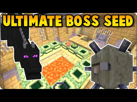 Minecraft Ultimate Boss Seed Showcase/ Review- Elder Guardian + Ender Dragon - PS3, PS4, Xbox, Wii U