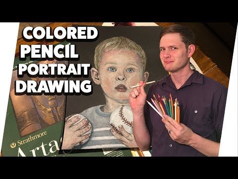 Colored Pencil Portrait Time-Lapse