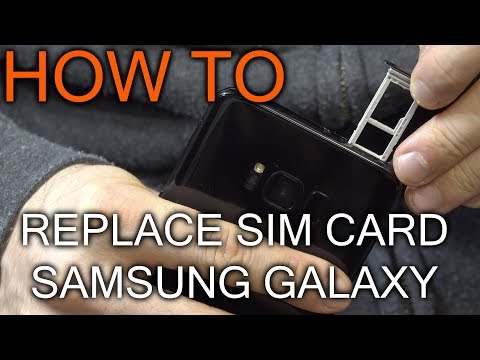 How to Replace Sim Card in Samsumg Galaxy S8