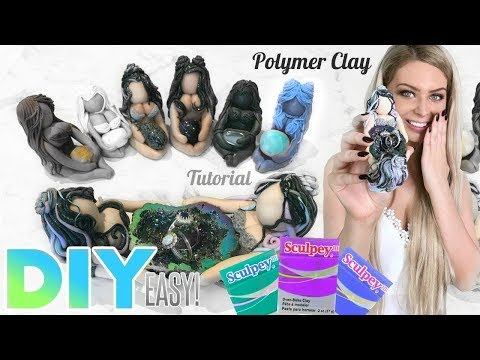 DIY Polymer Clay Crystal and Jewelry Holder - EASY TUTORIAL