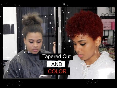 Tapered Cut Natural Hair and Color! TYPE 4a/4b