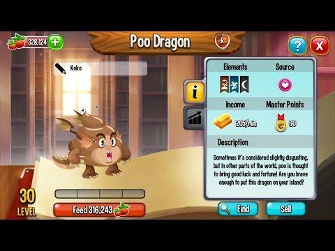 Dragon City Breeding Tutorial | How To Breed POO DRAGON | Very Rare Exclusive Dragon Breeding