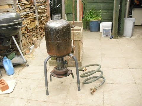 How to make a waste oil water heater - for hot tub