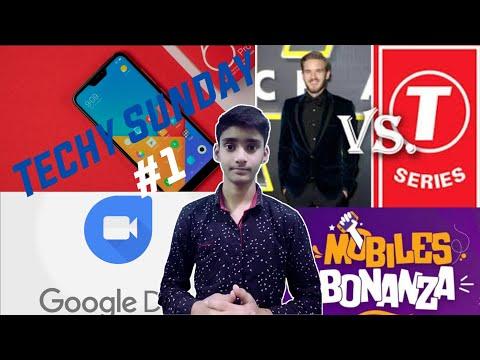 Techy Sunday #1   Tech news   Instagram, Redmi note 6 pro, Google Duo, T-series Vs pewdiepie