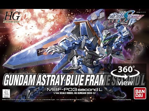 (360°Degree) HG 1/144 Gundam Astray Blue Frame Second L