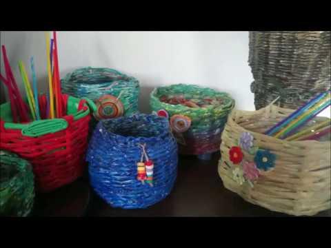 DIY How to Make a Newspaper Spring Basket