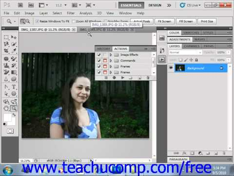Photoshop CS5 Tutorial Actions & the Actions Panel Adobe Training Lesson 17.1