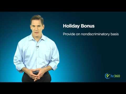 Holiday Bonus Know How