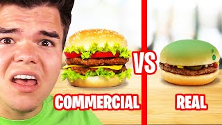Reacting To COMMERCIALS vs. REAL LIFE FOOD! (Insane)