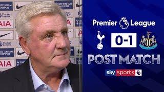 """Criticism of us is embarrassing!"" | Steve Bruce Post Match | Tottenham 0-1 Newcastle"