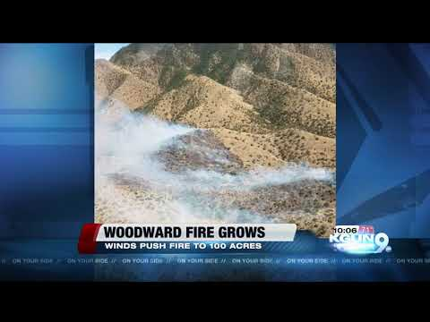 100-acre Woodward fire on the west side of the Huachucas