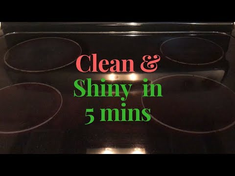 How to clean glass stove top || Glass Cook Top Cleaning ||Clean cook top in 5 mins using baking soda