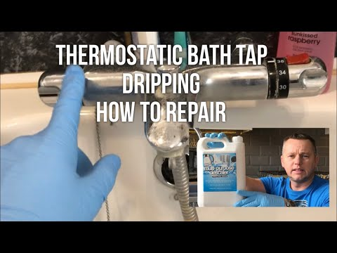 """Thermostatic Bath Tap Dripping """"How To Repair) no new parts diy"""