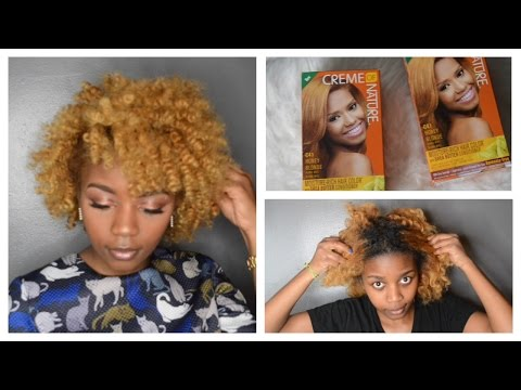 BLACK to BLONDE natural Hair | Creme Of Nature Hair Color