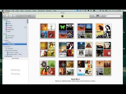Creating Genius Mixes in iTunes