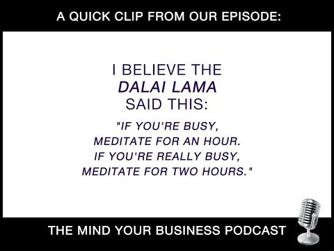 Mind Your Business Podcast - Episode 122: DO LESS BE MORE (teaser)