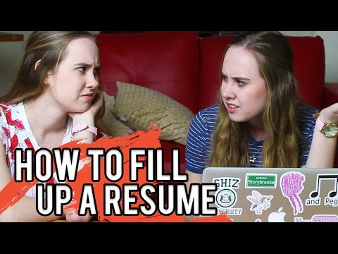 How To Fill Up A Resume