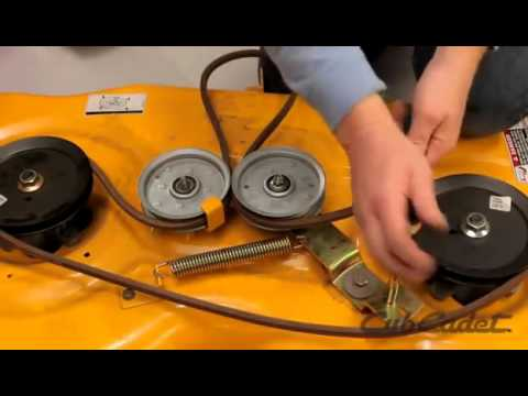 How to Change the Deck Belt on a Cub Cadet Riding Lawn Mower  Using Model 13AP91AT010