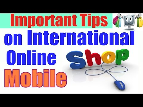Tips for Mobile Shopping on international website