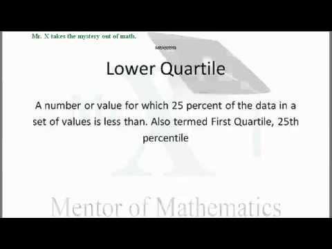 Glossary-Lower Quartile
