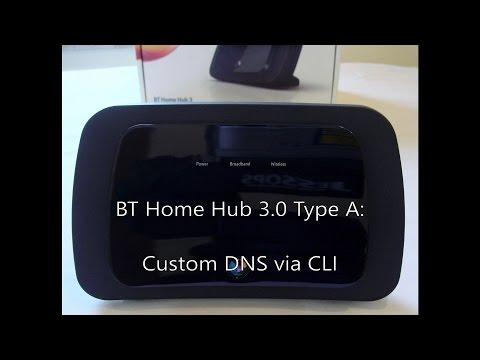 BT Home Hub 3.0 Type A: Custom DNS via CLI