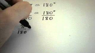 Basic Introduction Into Degrees And Radians And Converting Between Th