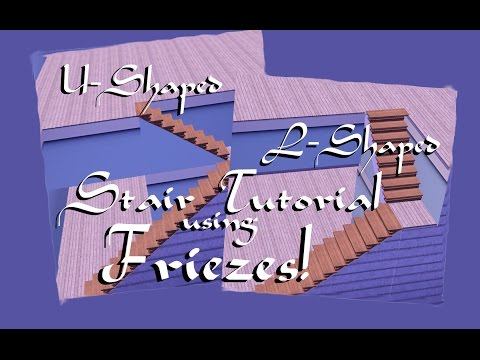 L Shaped & U Shaped Stairs using Frieze Level Tutorial