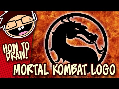 How to Draw the MORTAL KOMBAT DRAGON Symbol / Logo | Narrated Easy Step-by-Step Drawing Tutorial