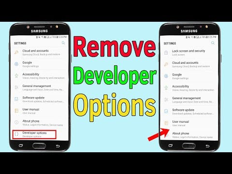 Developer Options : How To Disable or Remove Developer Options on Samsung Galaxy - Helping Mind