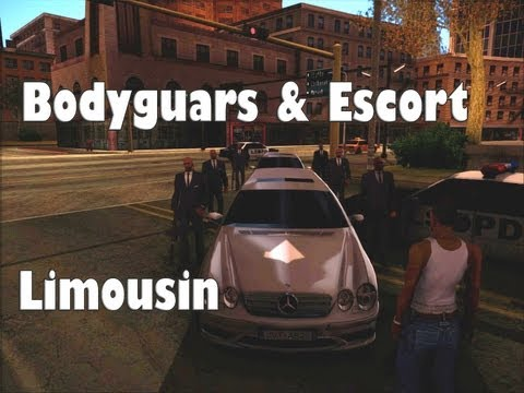 GTA San Andreas Mods - Bodyguards & Escort with Limousin