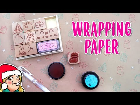 Pusheen Stamp Wrapping Paper 🎄Arty Advent Day 21🎄