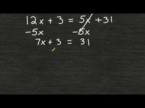 Solving Equations With A Variable On Both Sides