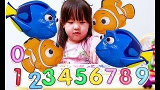 Learning  Numbers with Dory  & Nemo - Fun Kids Children Toddles Counting with Puzzle