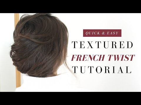 Easy Textured French Twist   Tutorial