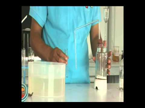 Preparation of Carbondioxide in lab to study its properties
