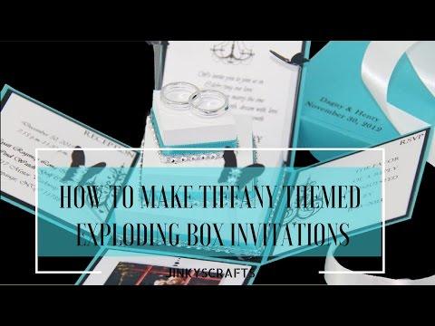 HOW TO MAKE  DIY TIFFANY THEMED EXPLODING BOX INVITATIONS TUTORIAL