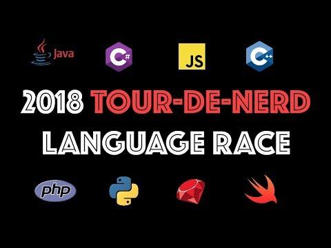 The 2018 Tour-De-Nerd Programming Language Race is ON!!