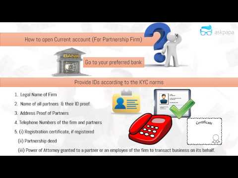 Opening a Current Account Partnership Firm
