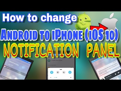 how to change android notification / status bar to ios (iphone)