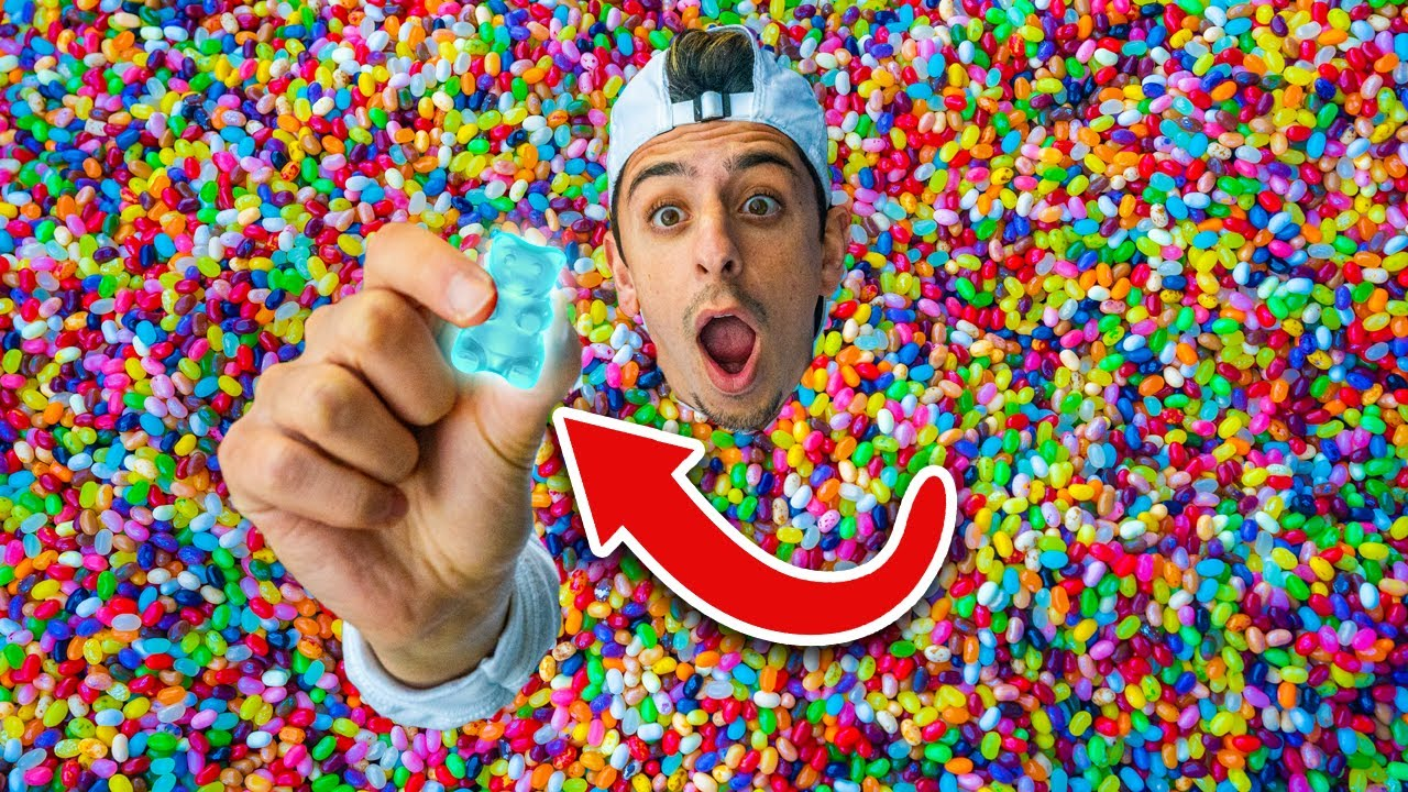 Find the Gummy Bear in Jelly Bean Pool - $10,000 Challenge