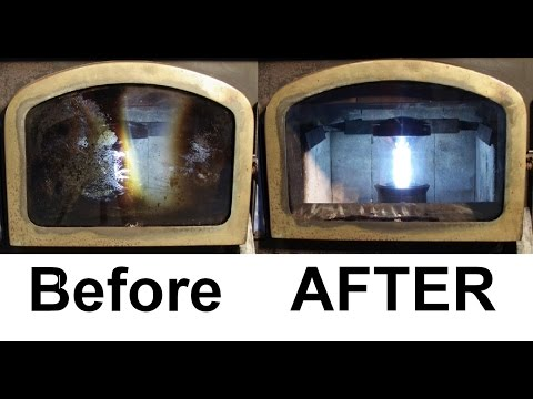 How To: Use Steel Wool to Clean Fireplace Window Glass