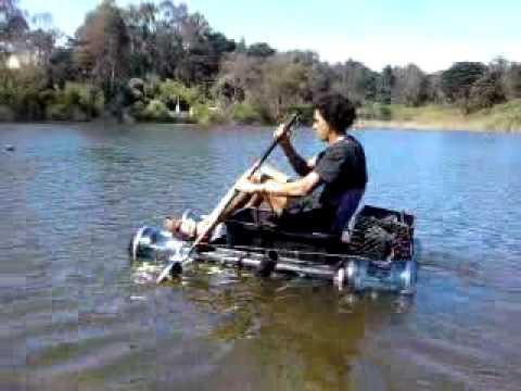 My  homemade plastic boat/water craft/ raft