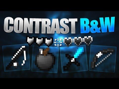 Contrast B&W 16x - Minecraft PE (Bedrock Edition) [Showcase Sunday]
