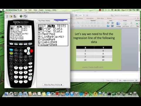 How to find the regression equation line calculator Ti-84
