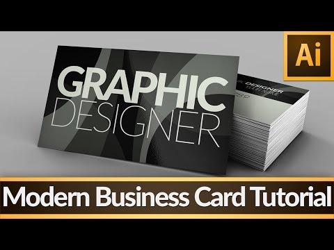 Modern Business Card — Illustrator Tutorial